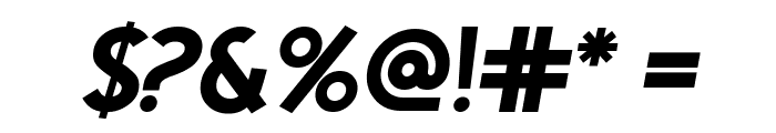 Egmont Text Bold Italic Font OTHER CHARS