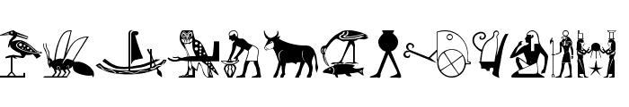 EgyptChildren Font UPPERCASE