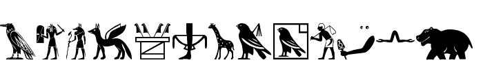 EgyptChildren Font LOWERCASE