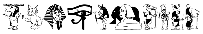 EgyptMythOne Font OTHER CHARS