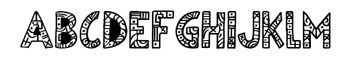 Egyptian Nights Font UPPERCASE