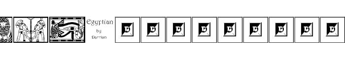 Egyptian Font LOWERCASE