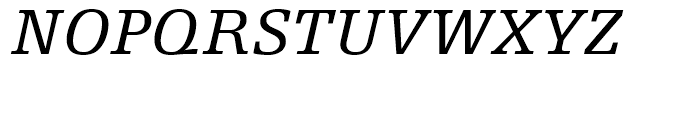 Egyptienne F 56 Italic Font UPPERCASE