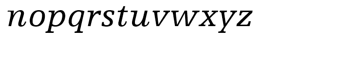 Egyptienne F 56 Italic Font LOWERCASE