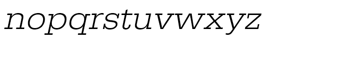 Egyptienne Light Extra Wide Oblique Font LOWERCASE
