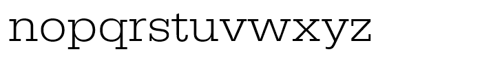 Egyptienne Light Extra Wide Font LOWERCASE
