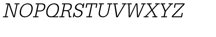 Egyptienne Light Narrow Oblique Font UPPERCASE