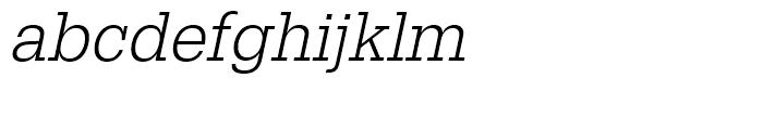 Egyptienne Light Narrow Oblique Font LOWERCASE