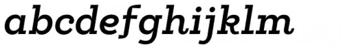 Egalite Demi Bold Italic Font LOWERCASE