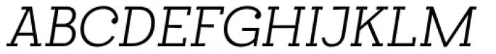 Egalite Light Italic Font UPPERCASE
