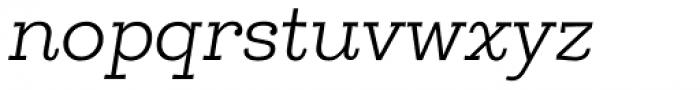 Egalite Light Italic Font LOWERCASE