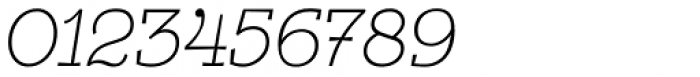 Egalite Thin Italic Font OTHER CHARS