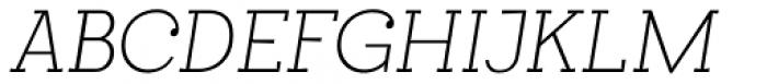 Egalite Thin Italic Font UPPERCASE