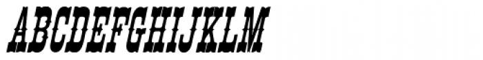 Egiptian Ornamented Italic Font UPPERCASE
