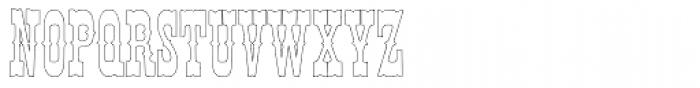 Egiptian Ornamented Outline Font UPPERCASE