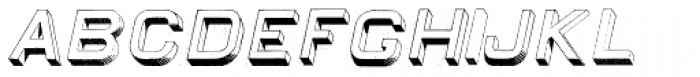 Egiptian Sans Serif Italic Font UPPERCASE
