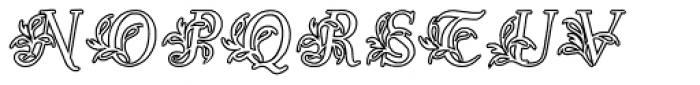 Egmontian Open Font UPPERCASE