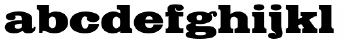 Egyptian Bold Extended Font LOWERCASE