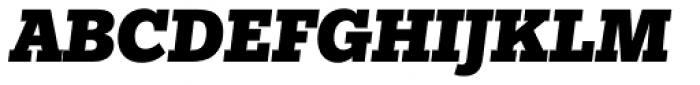 Egyptian Slate Pro Black Italic Font UPPERCASE