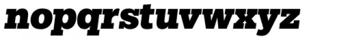 Egyptian Slate Pro Black Italic Font LOWERCASE