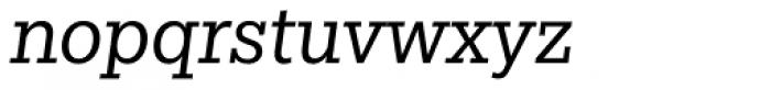 Egyptian Slate Pro Book Italic Font LOWERCASE