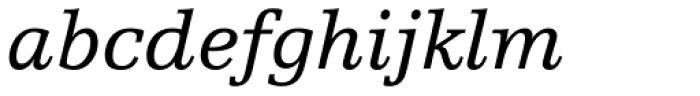 Egyptienne FLT Std Italic Font LOWERCASE