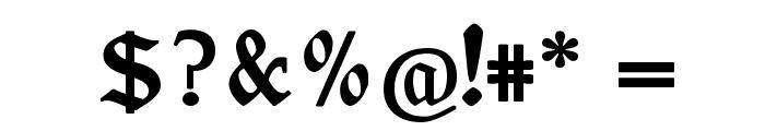 Ehmcke Federfraktur Font OTHER CHARS