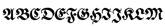 Ehmcke Federfraktur Font UPPERCASE