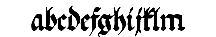 Ehmcke Federfraktur Font LOWERCASE
