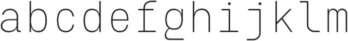 Eingrantch Mono Light otf (300) Font LOWERCASE