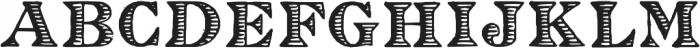 Eingraviert ttf (400) Font UPPERCASE