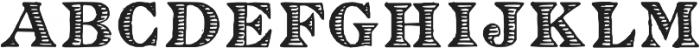 Eingraviert ttf (400) Font LOWERCASE