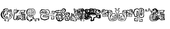 EighteenMayanMonths Font UPPERCASE