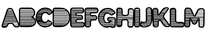 EightiesShades Font UPPERCASE
