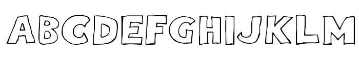 Eighty Percent Outline Font UPPERCASE