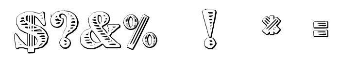 Eingraviert Beveled Font OTHER CHARS