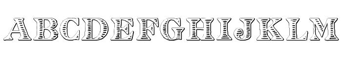 Eingraviert Beveled Font UPPERCASE