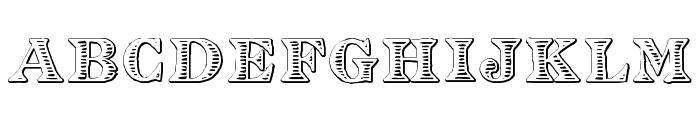 Eingraviert Beveled Font LOWERCASE