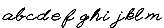 Einstein Grand Font LOWERCASE