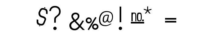 Einzine Font OTHER CHARS