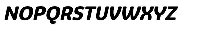 Eigerdals Heavy Italic Font UPPERCASE