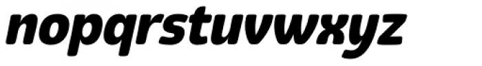Eigerdals Heavy Italic Font LOWERCASE