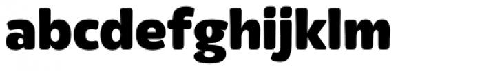 Eigerdals Heavy Font LOWERCASE