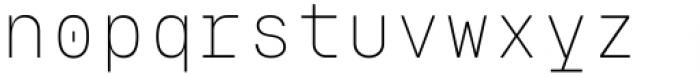 Eingrantch Mono Light Font LOWERCASE