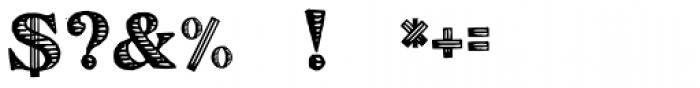 Eingraviert Font OTHER CHARS