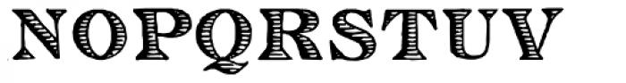 Eingraviert Font UPPERCASE