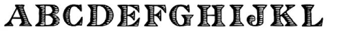 Eingraviert Font LOWERCASE
