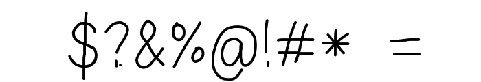 Eka's Android Handwriting Font OTHER CHARS