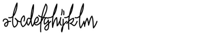 Ekologie Hand Font LOWERCASE