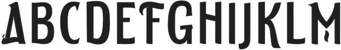 ELDERWEISS Condensed otf (400) Font UPPERCASE